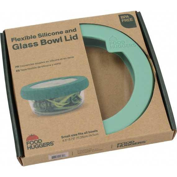 Καπάκι γυάλινο με σιλικόνη Small Πράσινο- LDS1GG -
