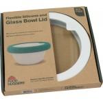 Καπάκι γυάλινο με σιλικόνη Medium Λευκό- LDM1SW - Food Huggers