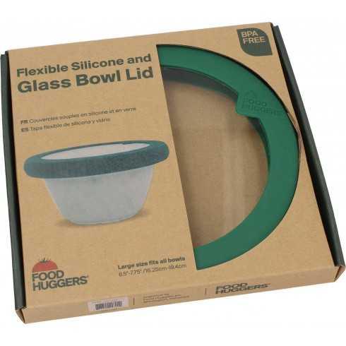 Καπάκι γυάλινο με σιλικόνη Large Πράσινο- LDL1GG - Food Huggers