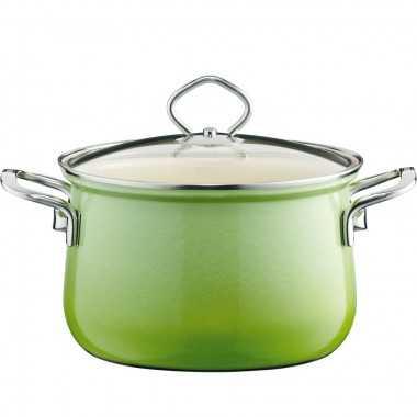 Κατσαρόλα με εμαγιέ πορσελάνη 6L 24cm Smaragd -0659-036 -RIESS