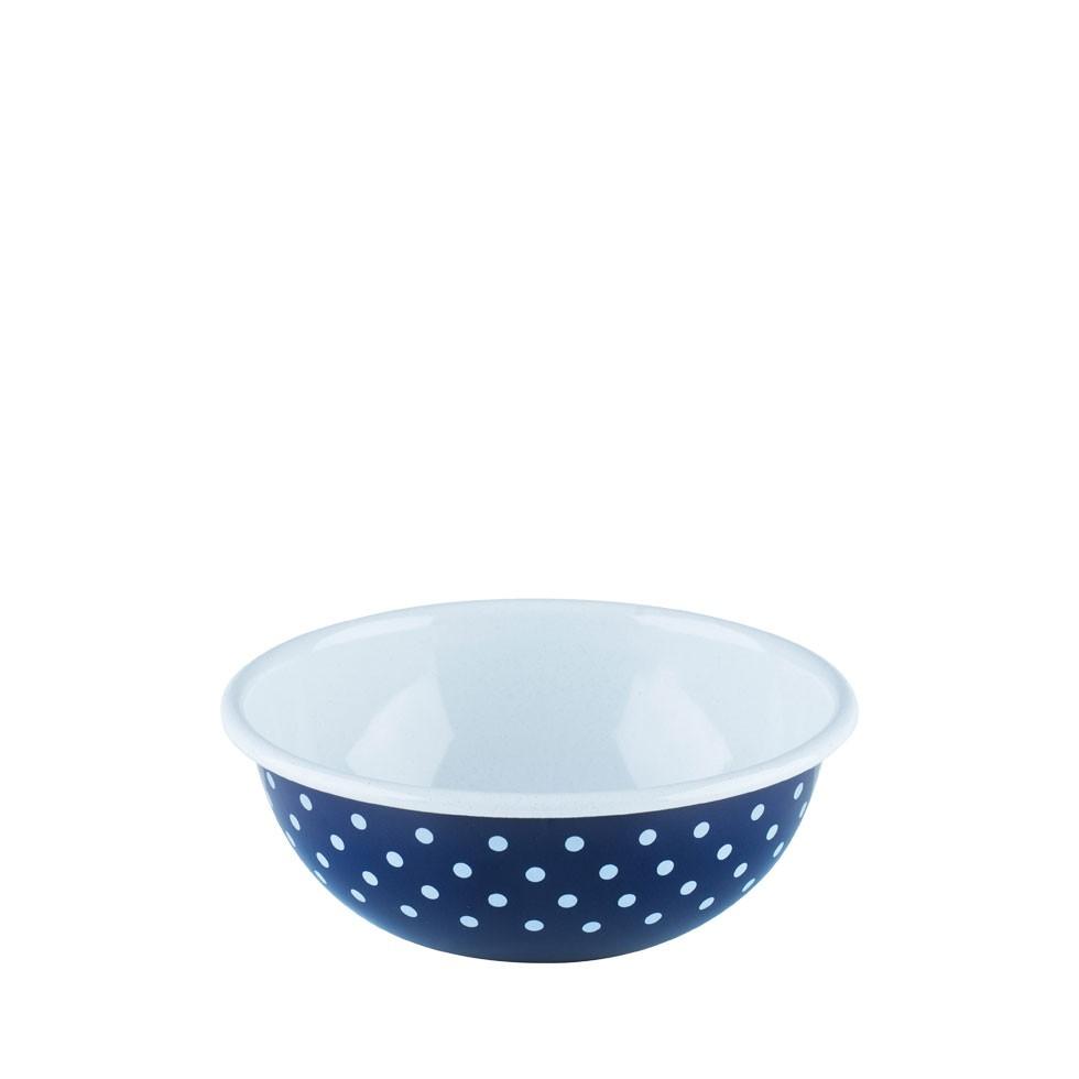 enamel-bowl-18cm-bluedot-riess